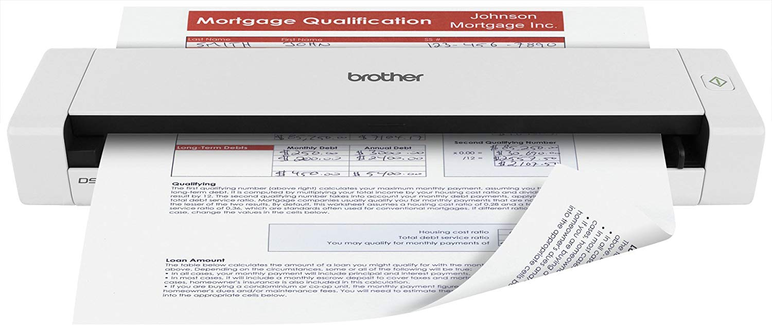 Brother Mobile Color Page Flatbed Fast Scanning Scanner, DS-720D
