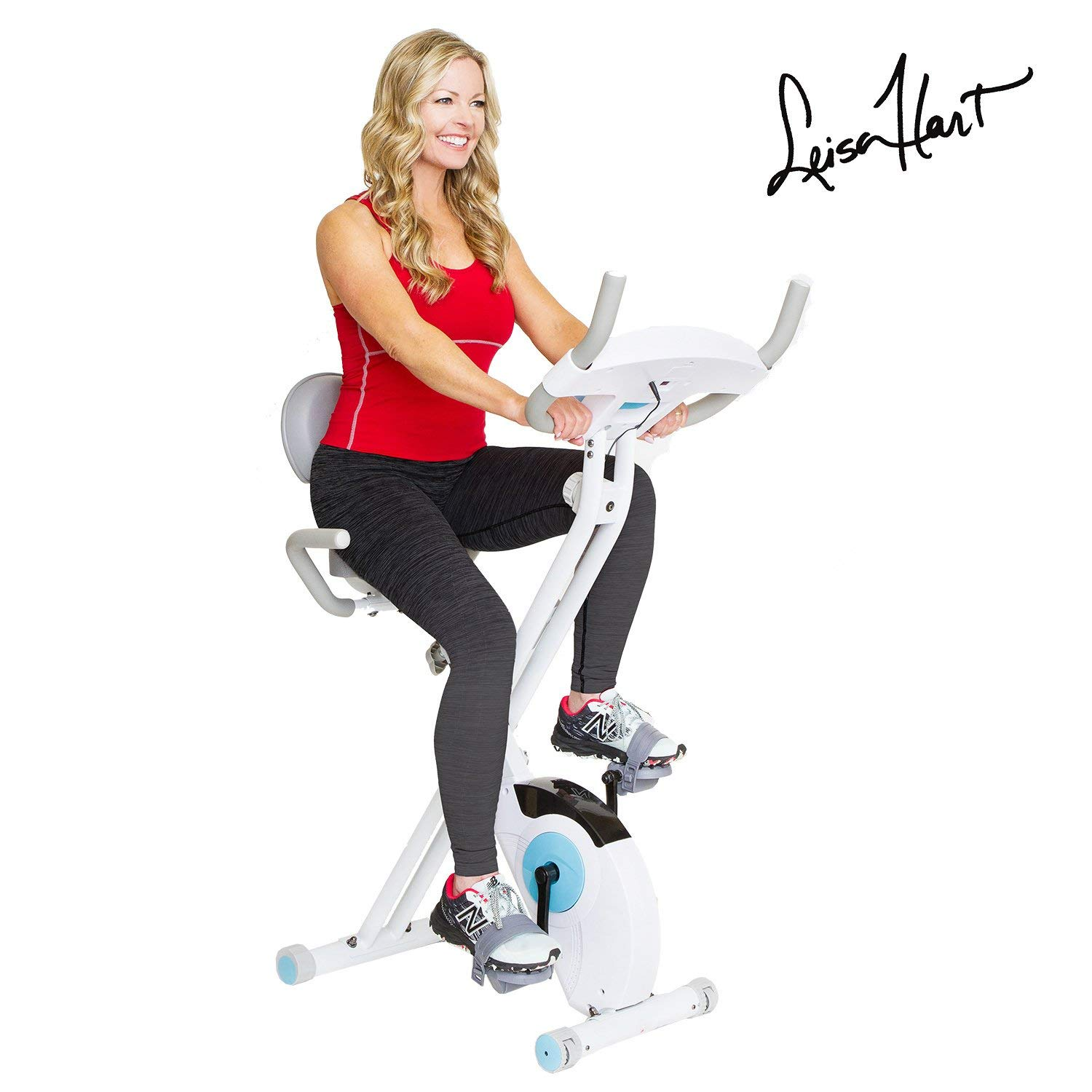 Body Rider Leisa Hart Folding Exercise Peloton Bike, XRB3535