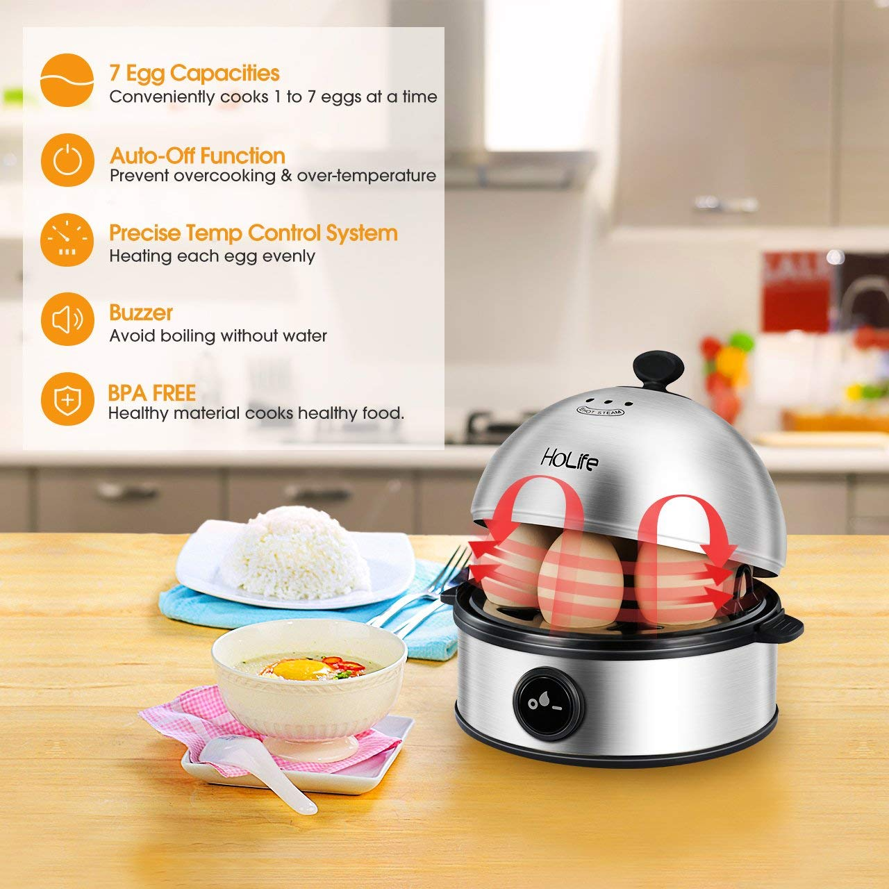 Ho Life Stainless Steel Egg Cooker