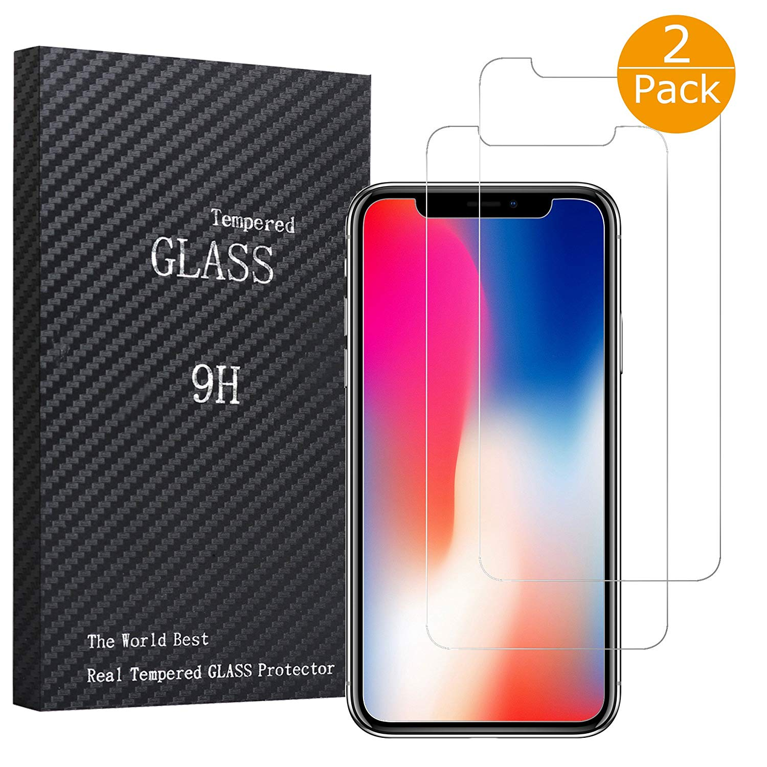 Redirect iPhone X 2-packs Screen Protector