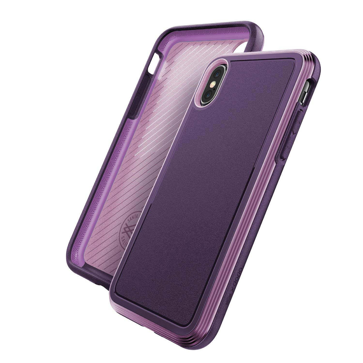 X-Doria iPhone XS, iPhone X Case with Anodized Aluminum Frame Protective Case [Purple]