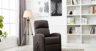 Divano Roma Furniture - Classic Plush Power Lift Recliner Living Room Chair (Dark Grey)