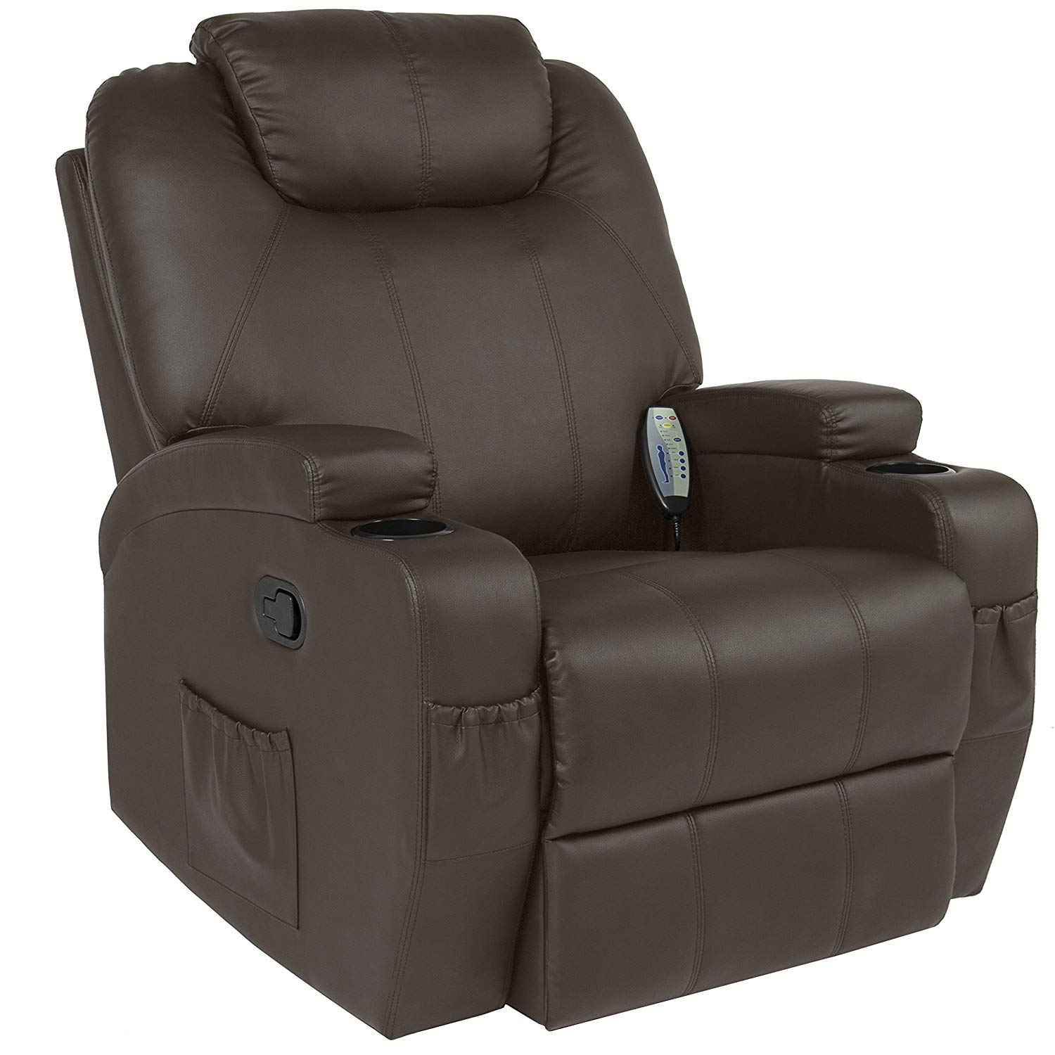 Executive Swivel Recliner sofa w/Remote Control, 2 Cup Holders, 5 Modes from Best Choice Products