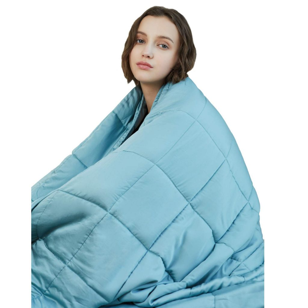 YnM Cooling Weighted Blanket, 100% Natural Bamboo Viscose