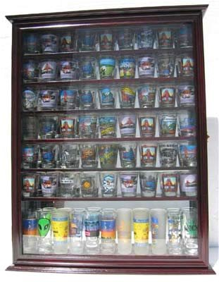 Large 72 Shot Glass Display Case