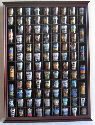 100 Shot Glass Display Case