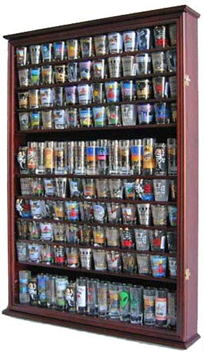 Large 144 Shot Glass Display Case