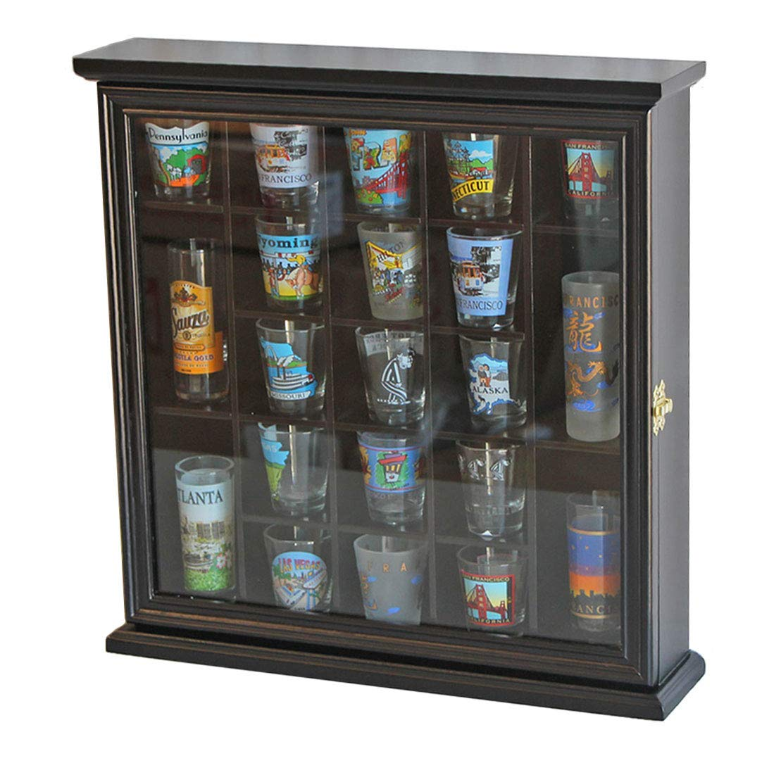 21 Shot Glass Display Case