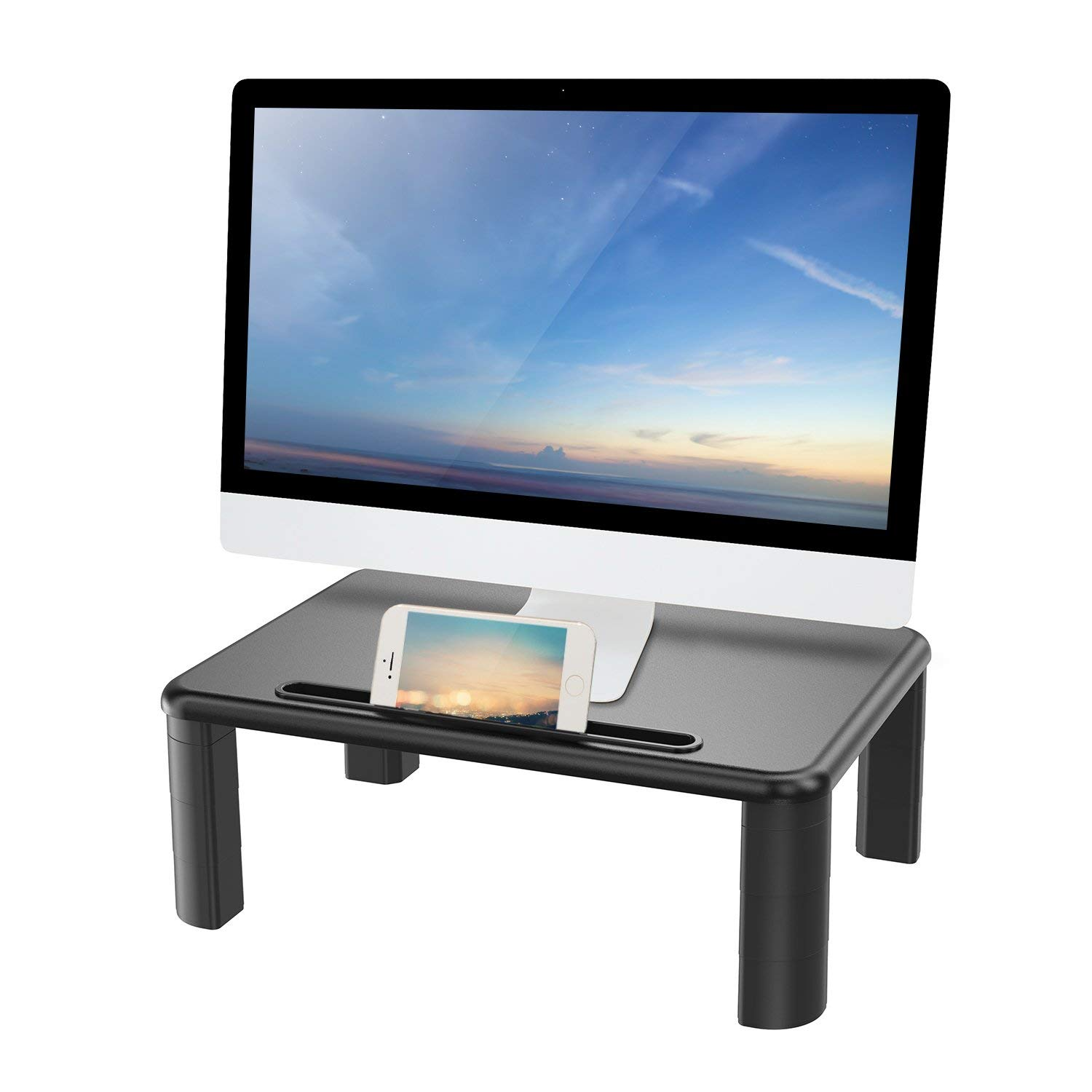 HUANUO Monitor Stand Riser with Adjustable Height