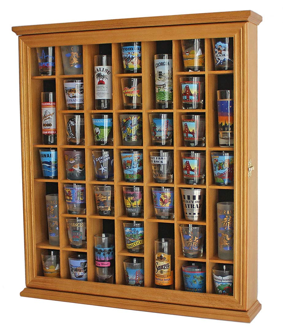 41 Shot Glass Display Case