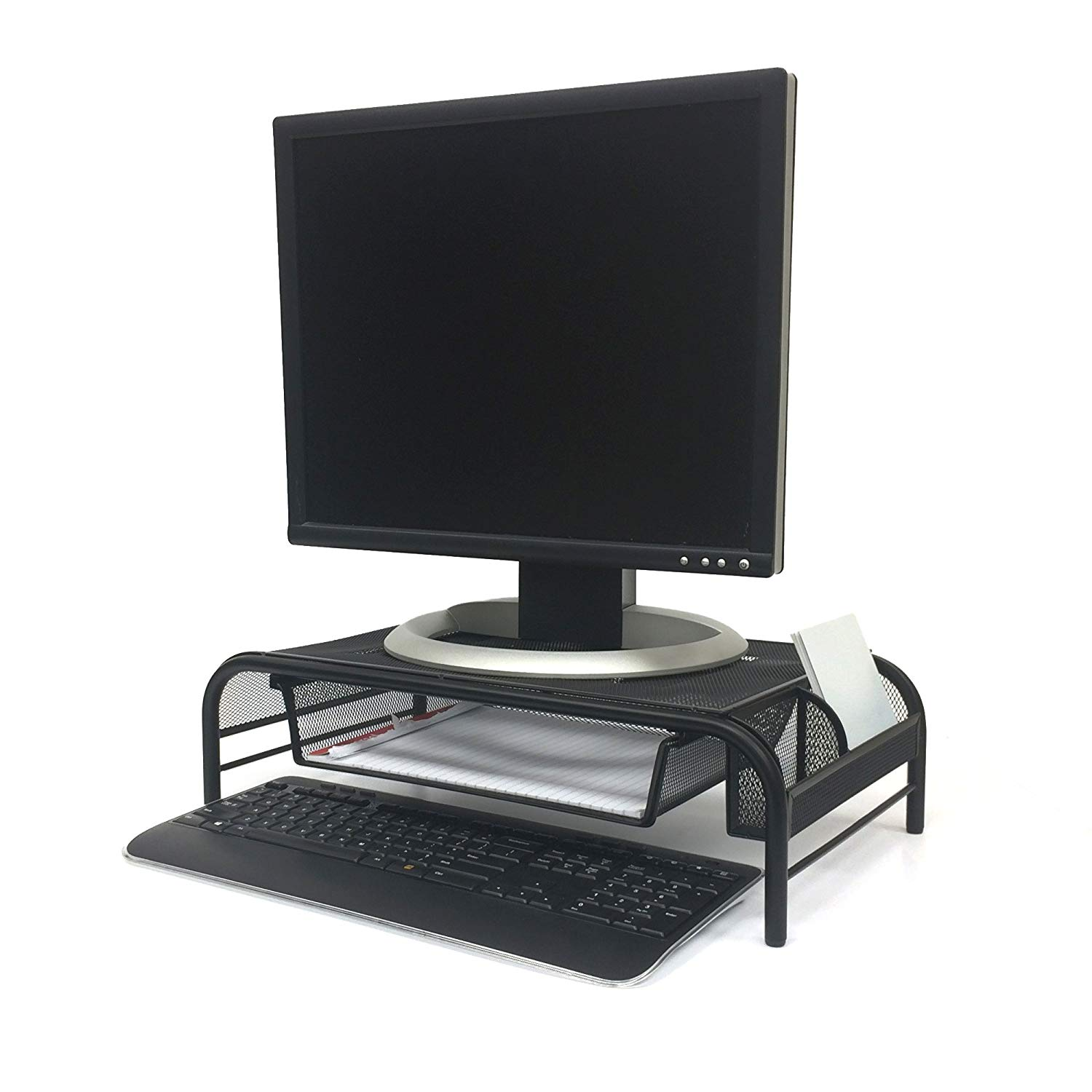 Mind Reader Raise Metal Mesh Monitor Riser