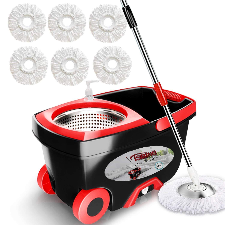 Tsmine 360 Spin Mop Bucket