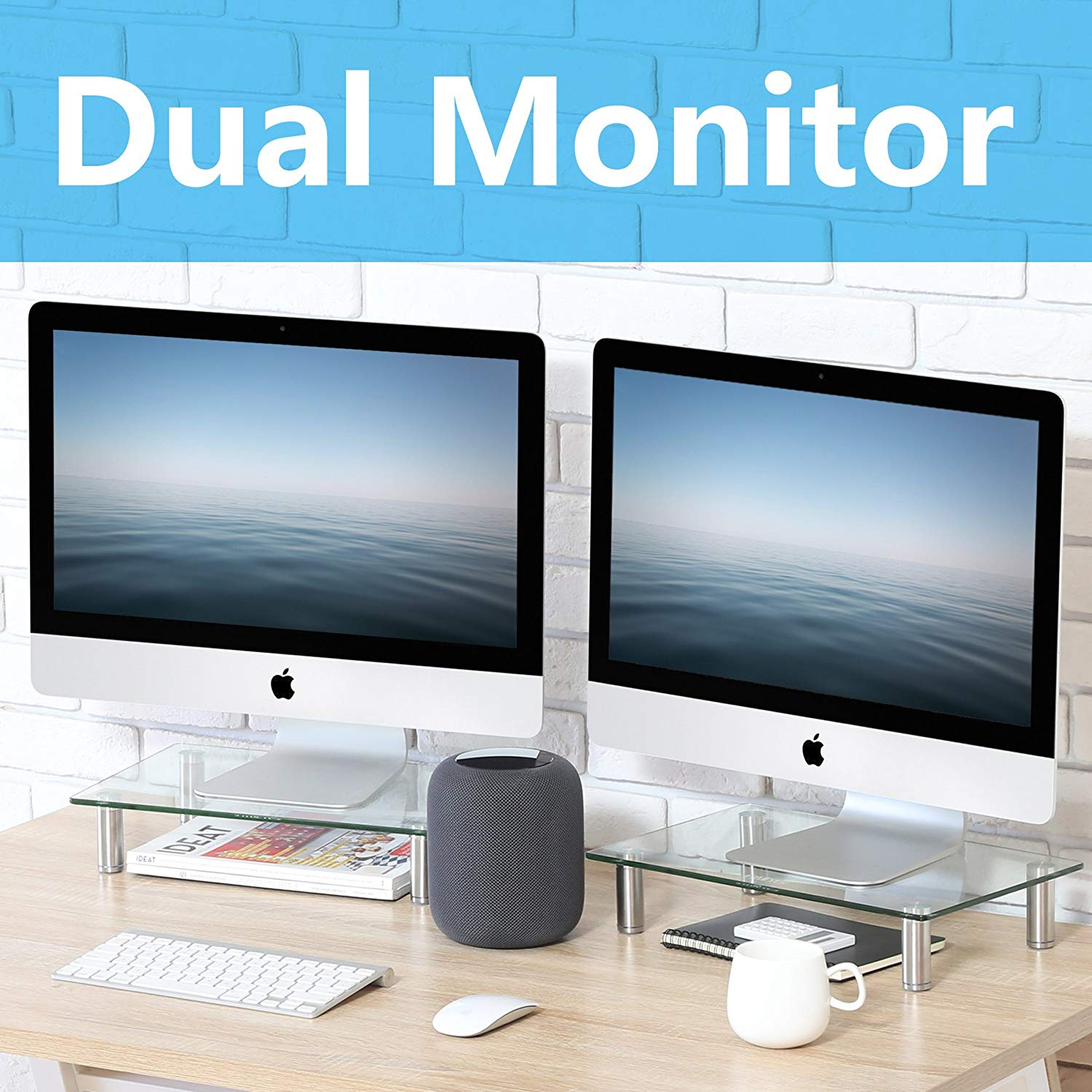 FITUEYES Clear Computer Monitor Riser