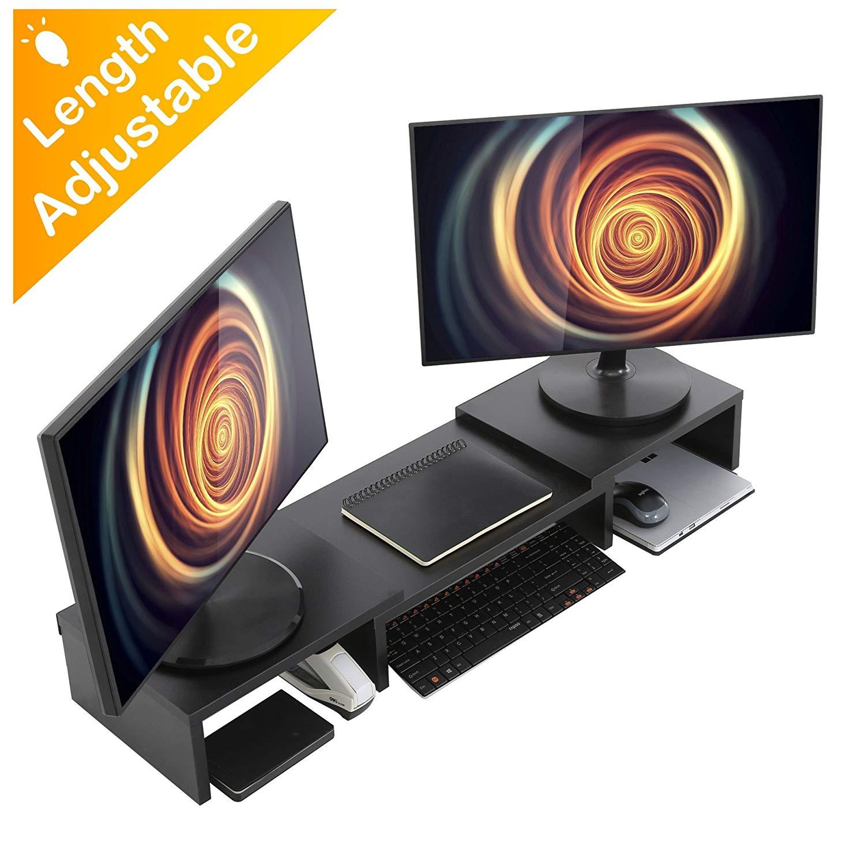 HOMURY Wood Dual Monitor Riser