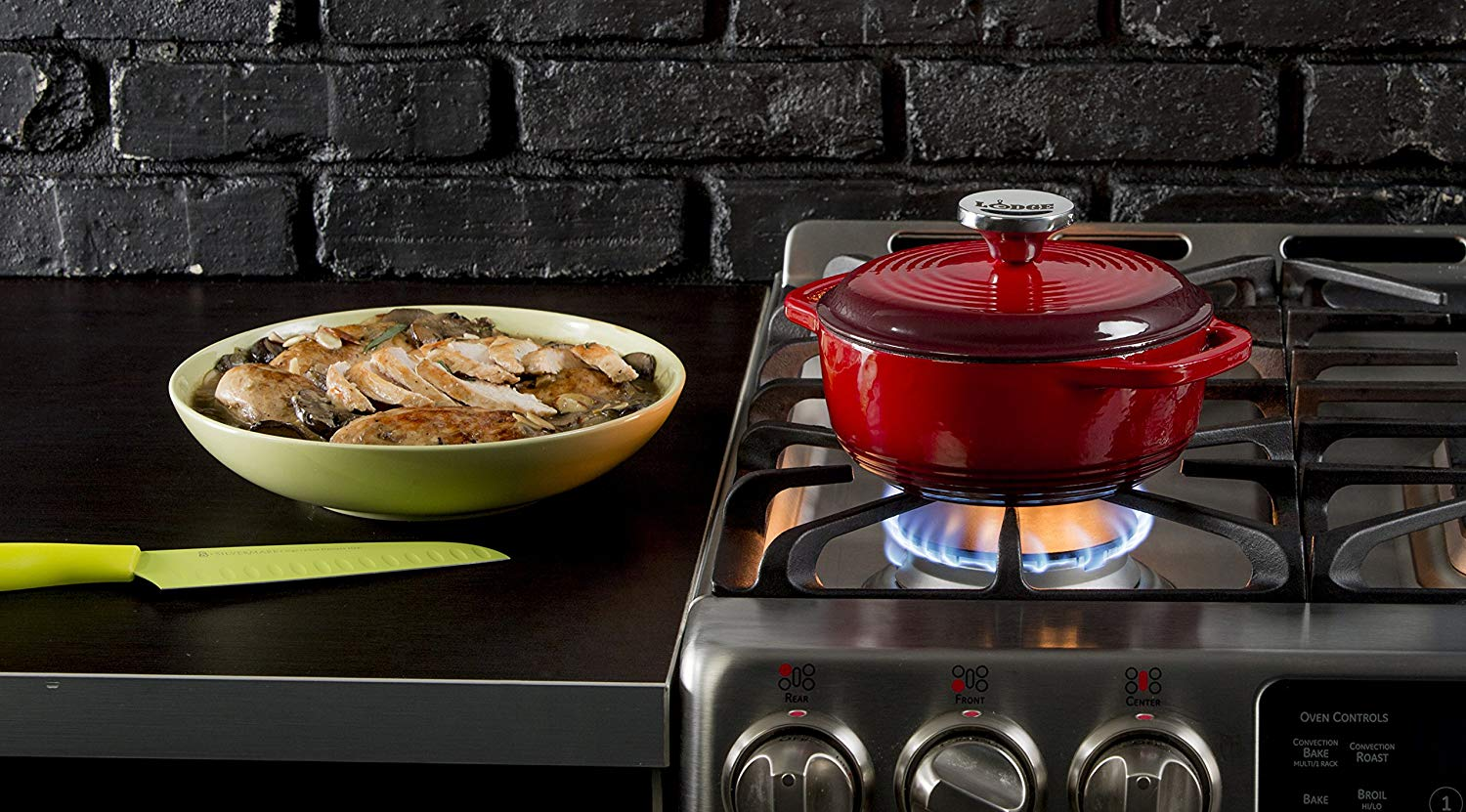Lodge EC1D43 Dutch Oven Enameled Cast-Iron