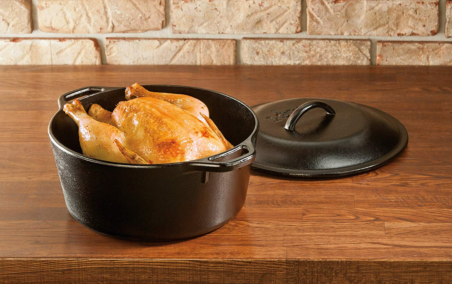 Lodge L8DOL3HH41PLT Cast-Iron 5-quart Dutch Oven coupled with Handle Holders