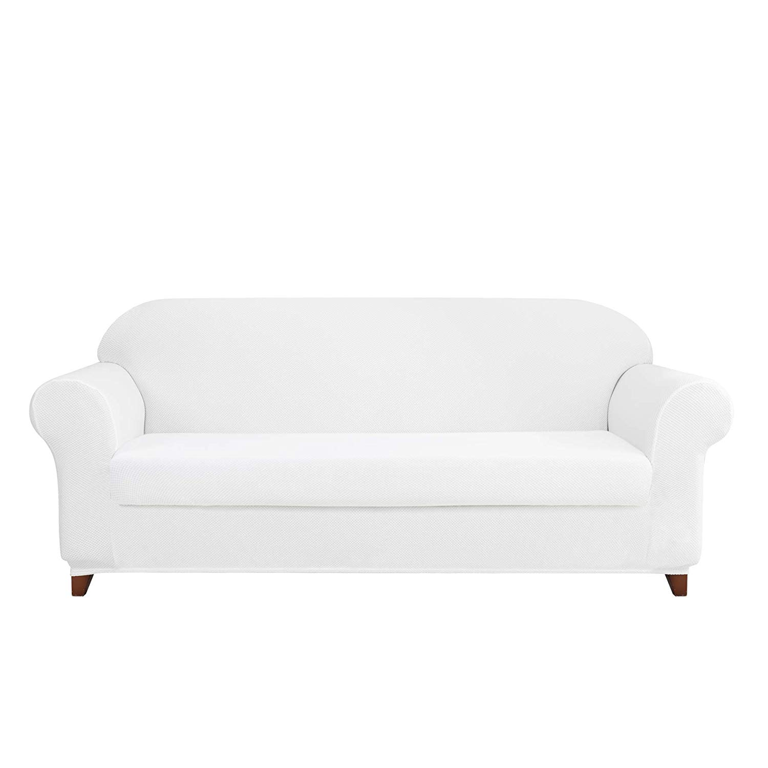 DyFun-Two-Piece White-Sofa-Slipcovers