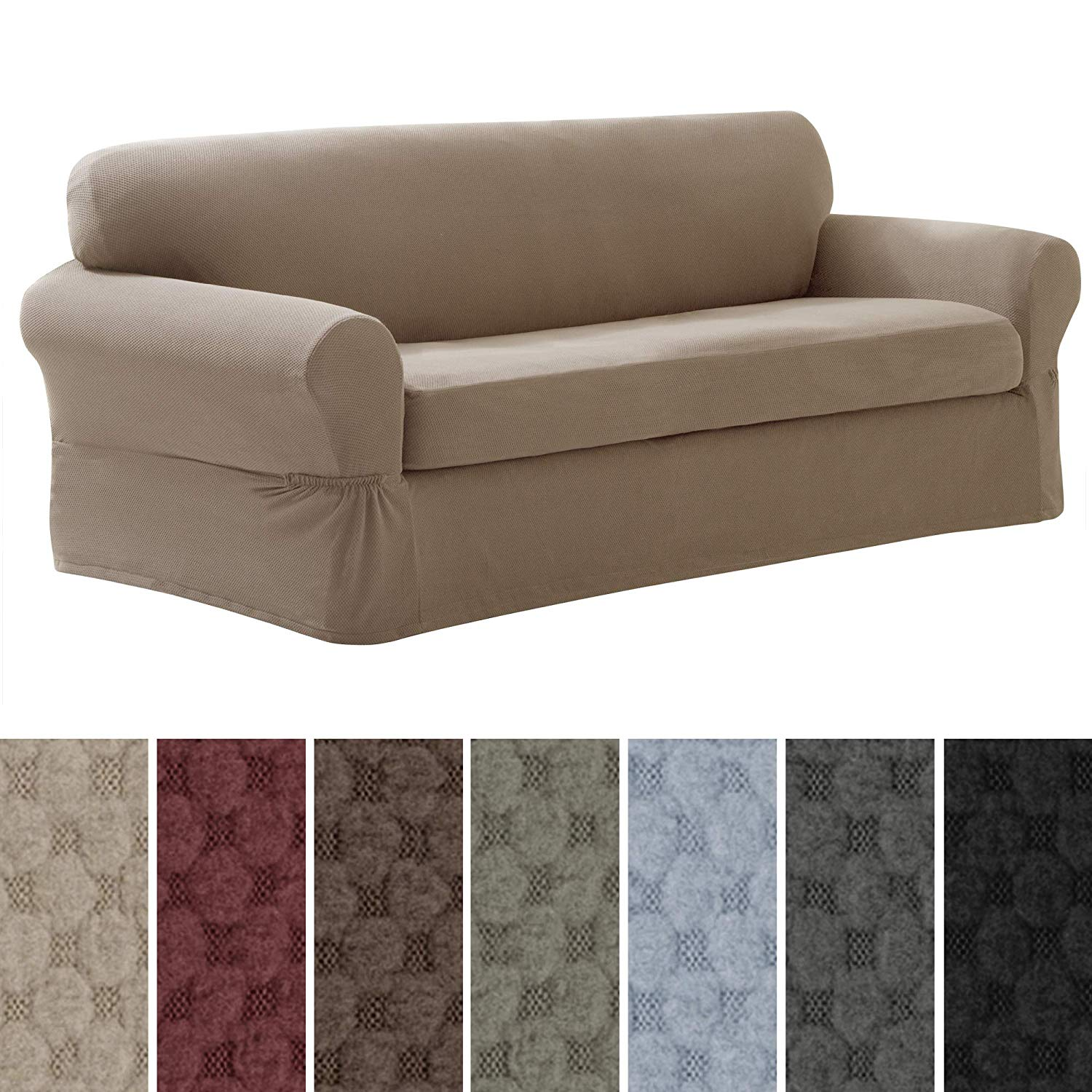 Maytex-Pixel-Stretch Two-Piece-Slipcover