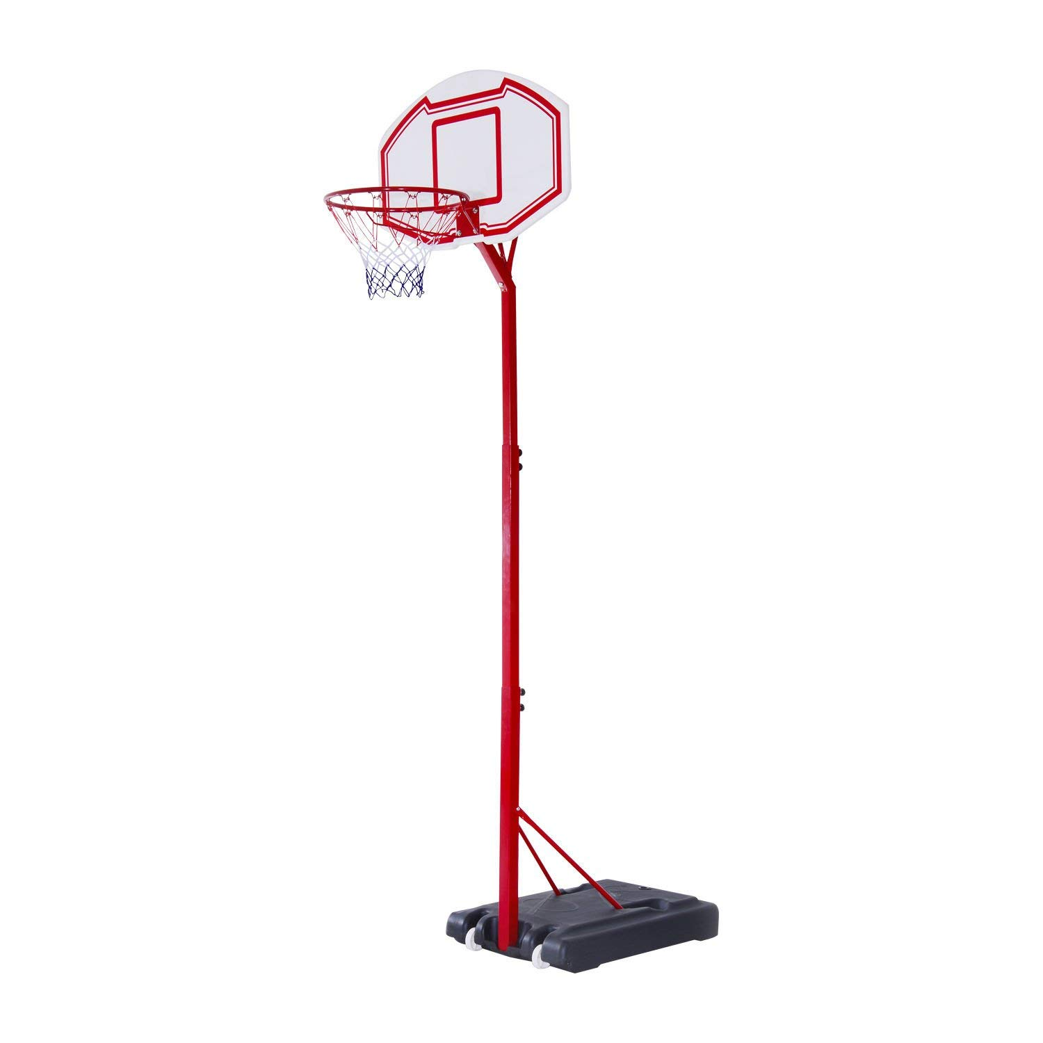Soozier 10' Height Adjustable Basketball Hoop