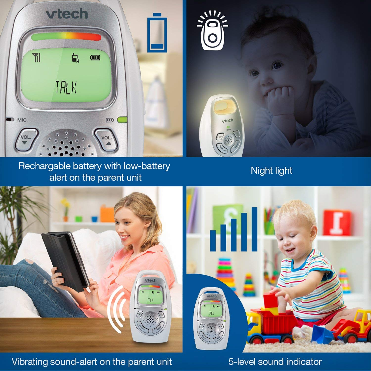 VTech Audio Baby Monitor DM233