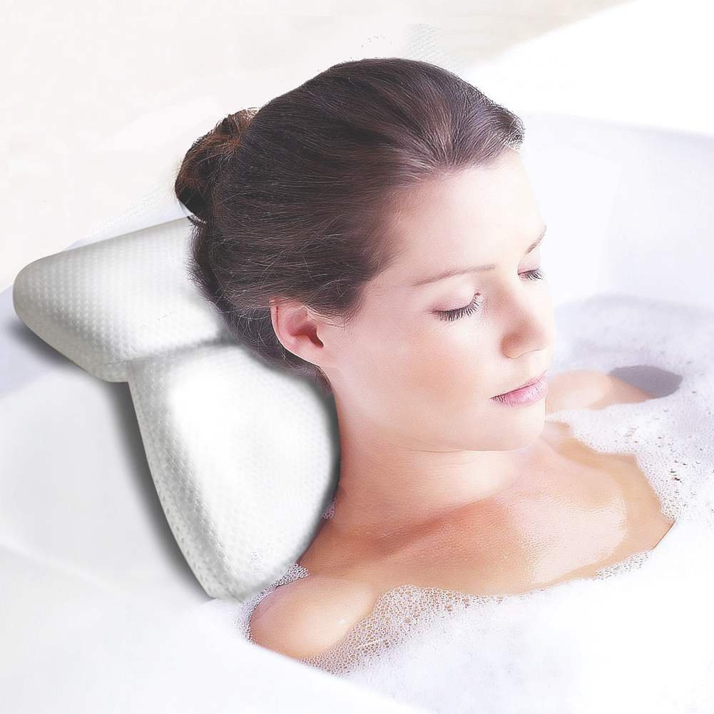 Bath Spa Pillow with 6 Suction Cups