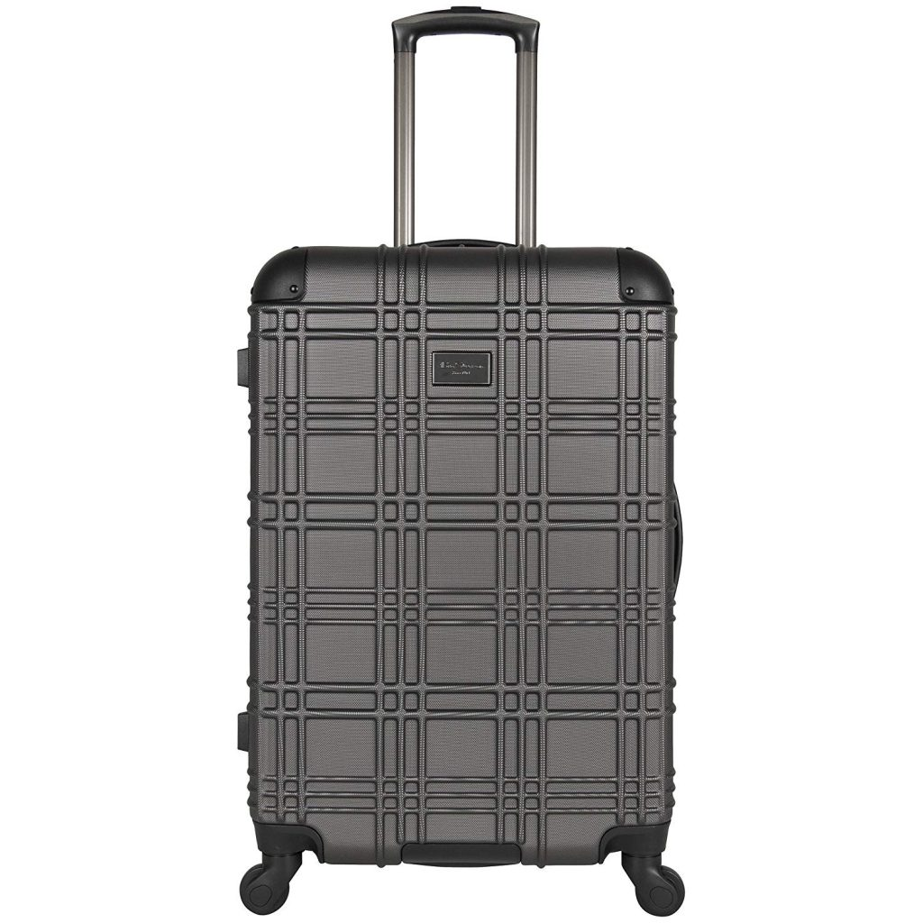 Ben Sherman Nottingham 24-inches Hard-side 4-Wheel Spinner Lightweight Checked Luggage