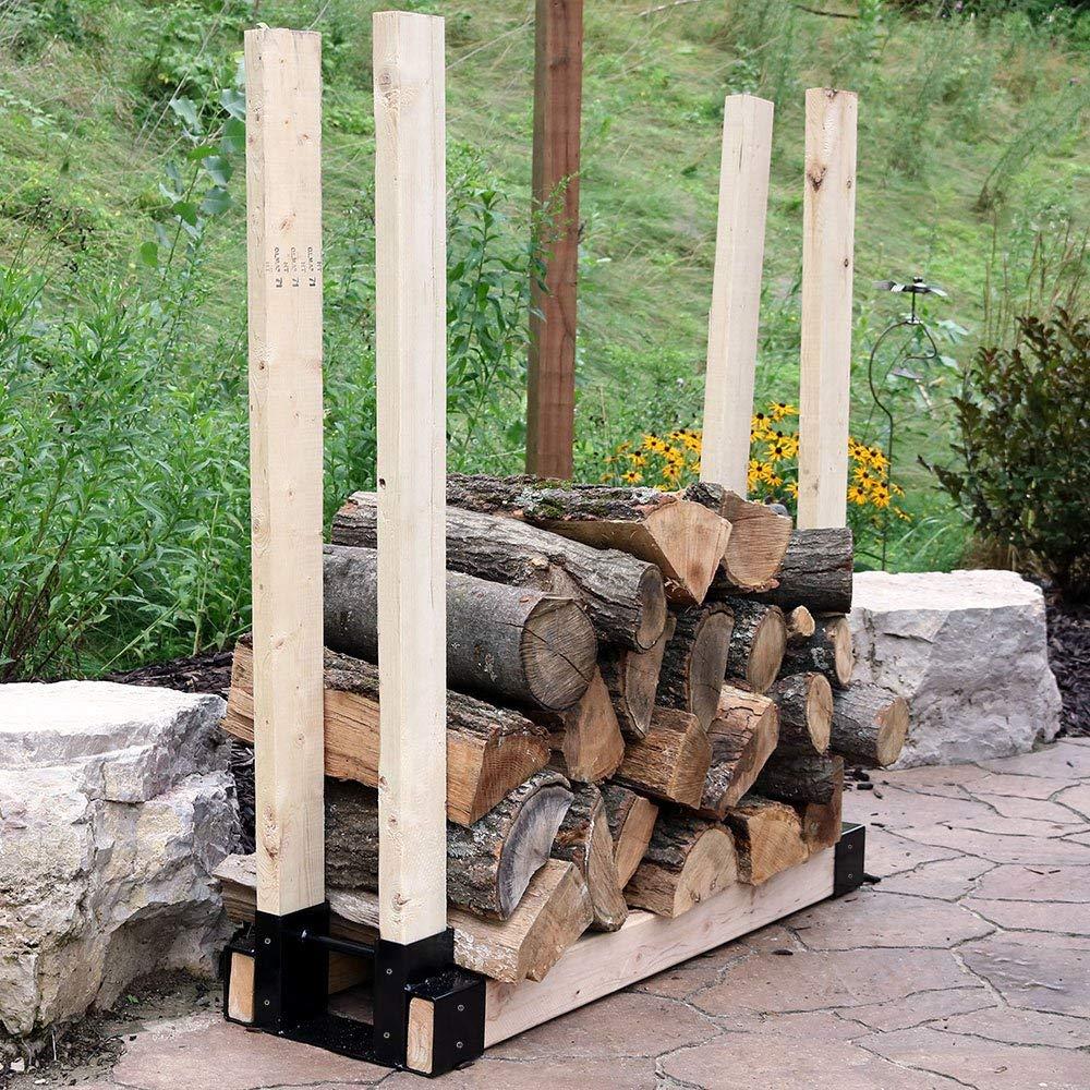 Sunnydaze Outdoor Firewood Rack