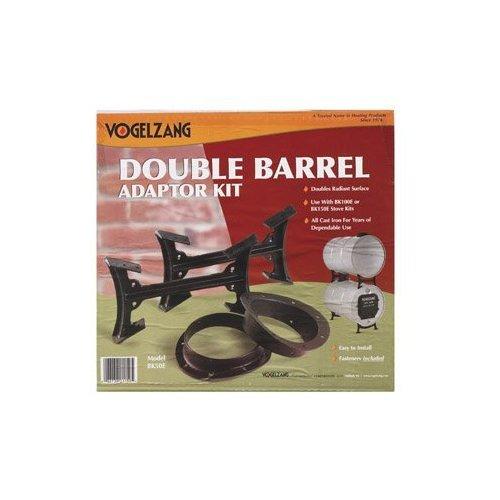 US Stove Company Natural Organic Double Barrel Stove Kit, BK50E