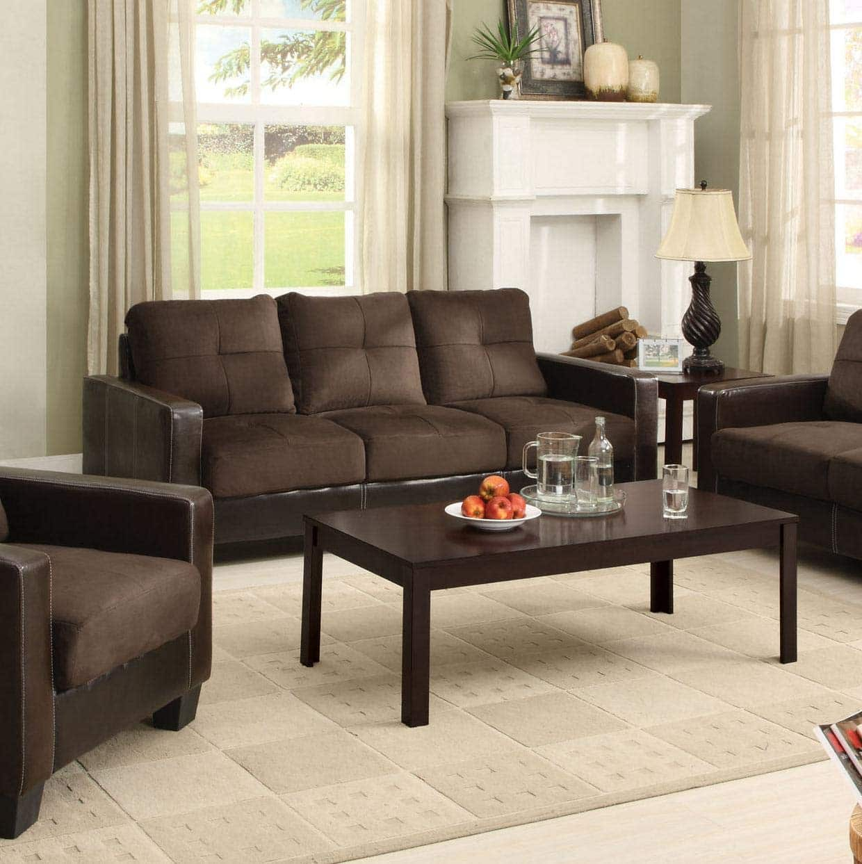 Furniture of America Laverne II Microfiber Sofa