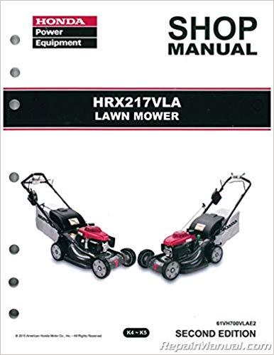 Honda Mower Service Repair Shop Manual