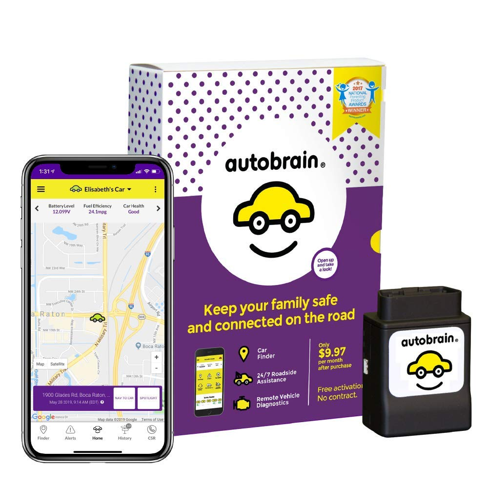 autobrain OBD Real-Time GPS Tracker for Vehicles