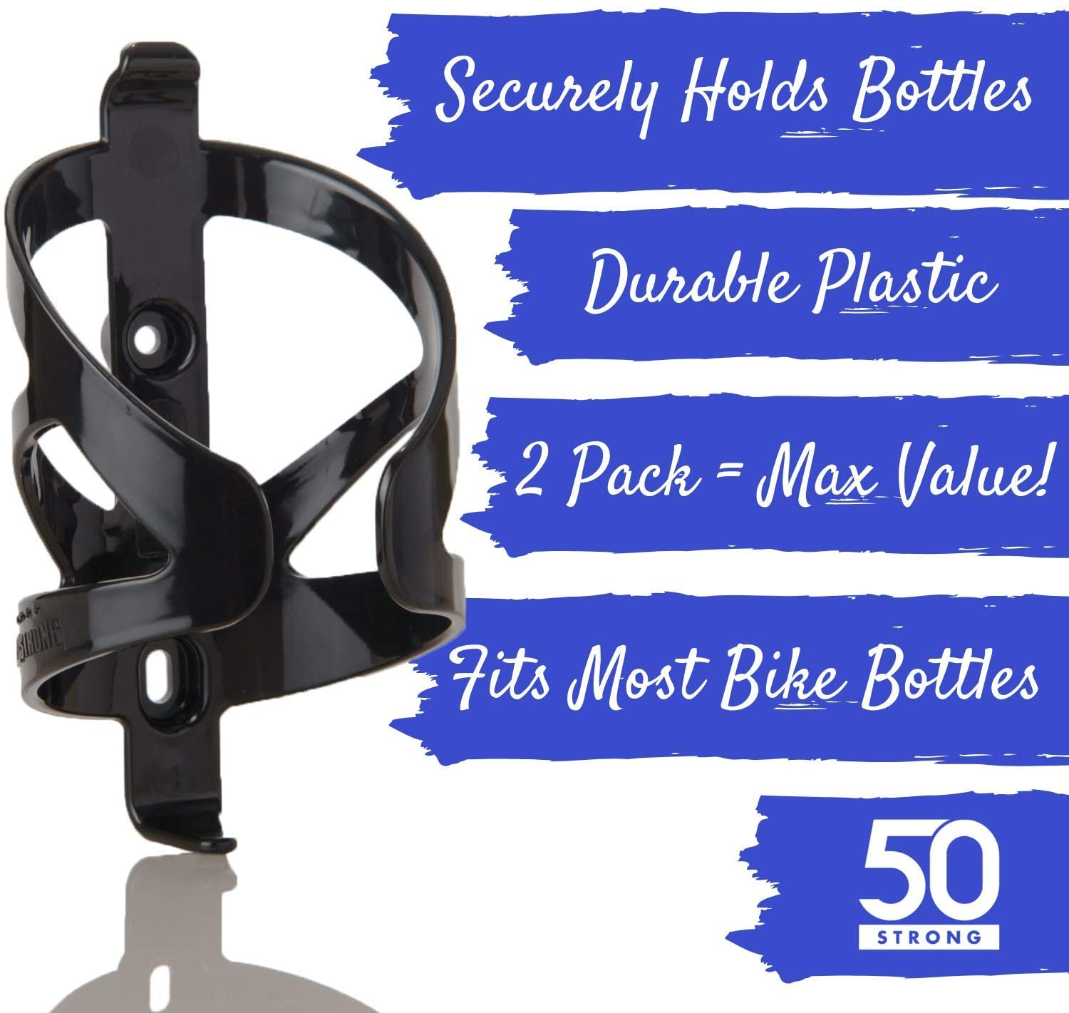 50 Strong Bike Water Bottle Cage