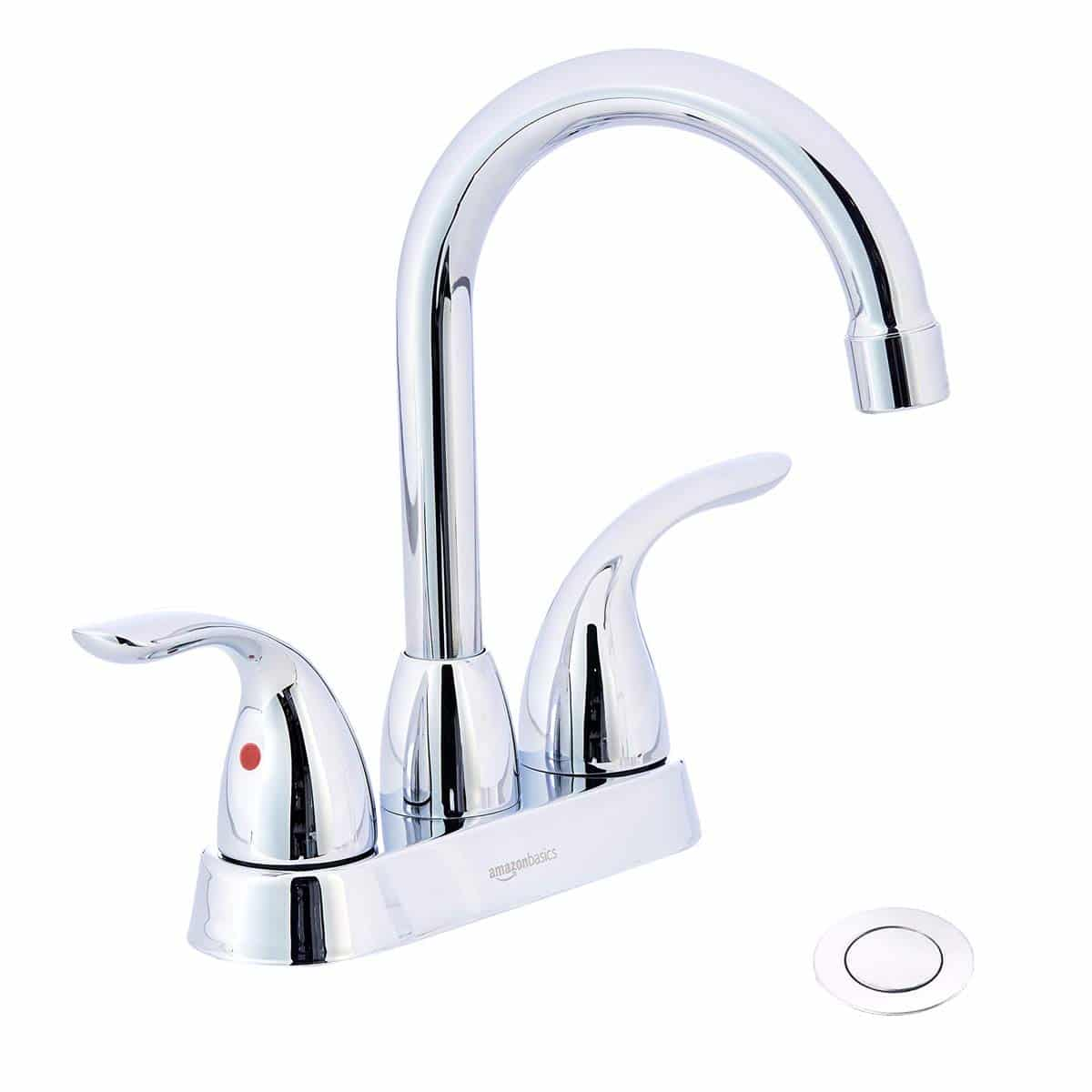 AmazonBasics AB-BF608-PC Basin Faucet-4-Inch, Polished Chrome