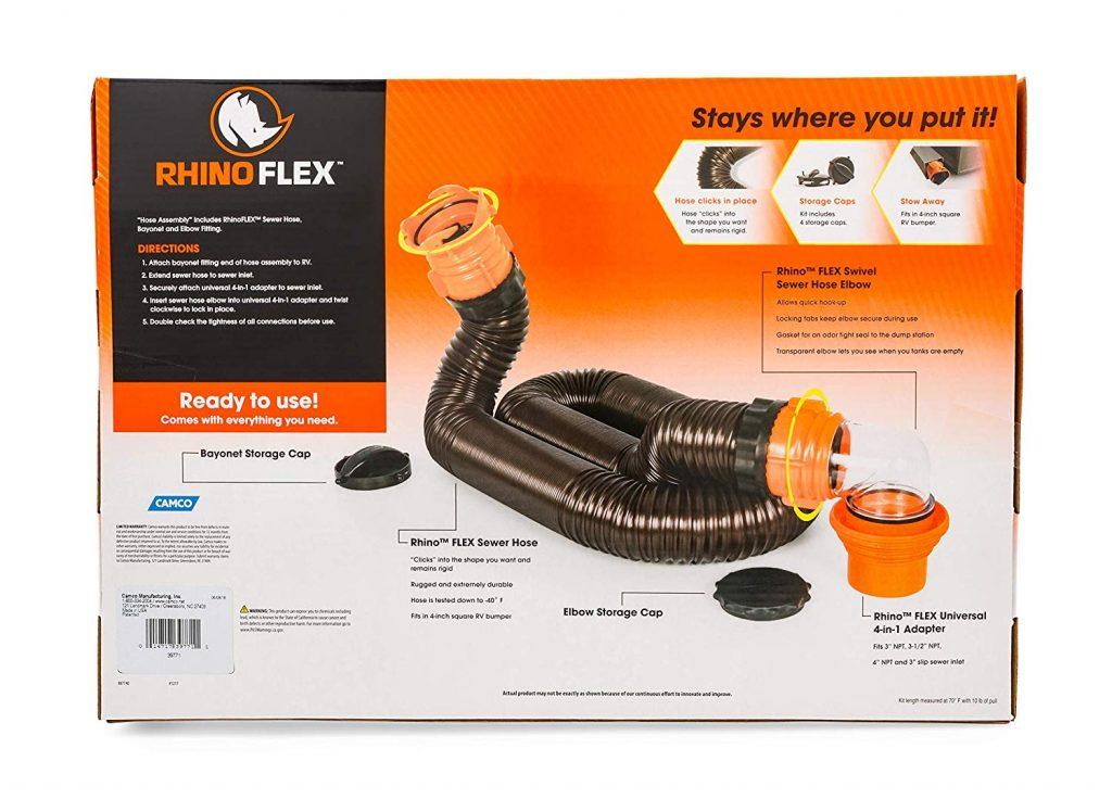 Camco RhinoFLEX 15ft RV Sewer Hose Kit