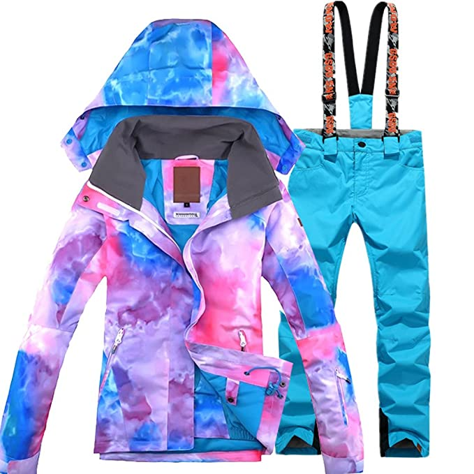 GS SNOWING Women's Ski Jackets and Pants Set