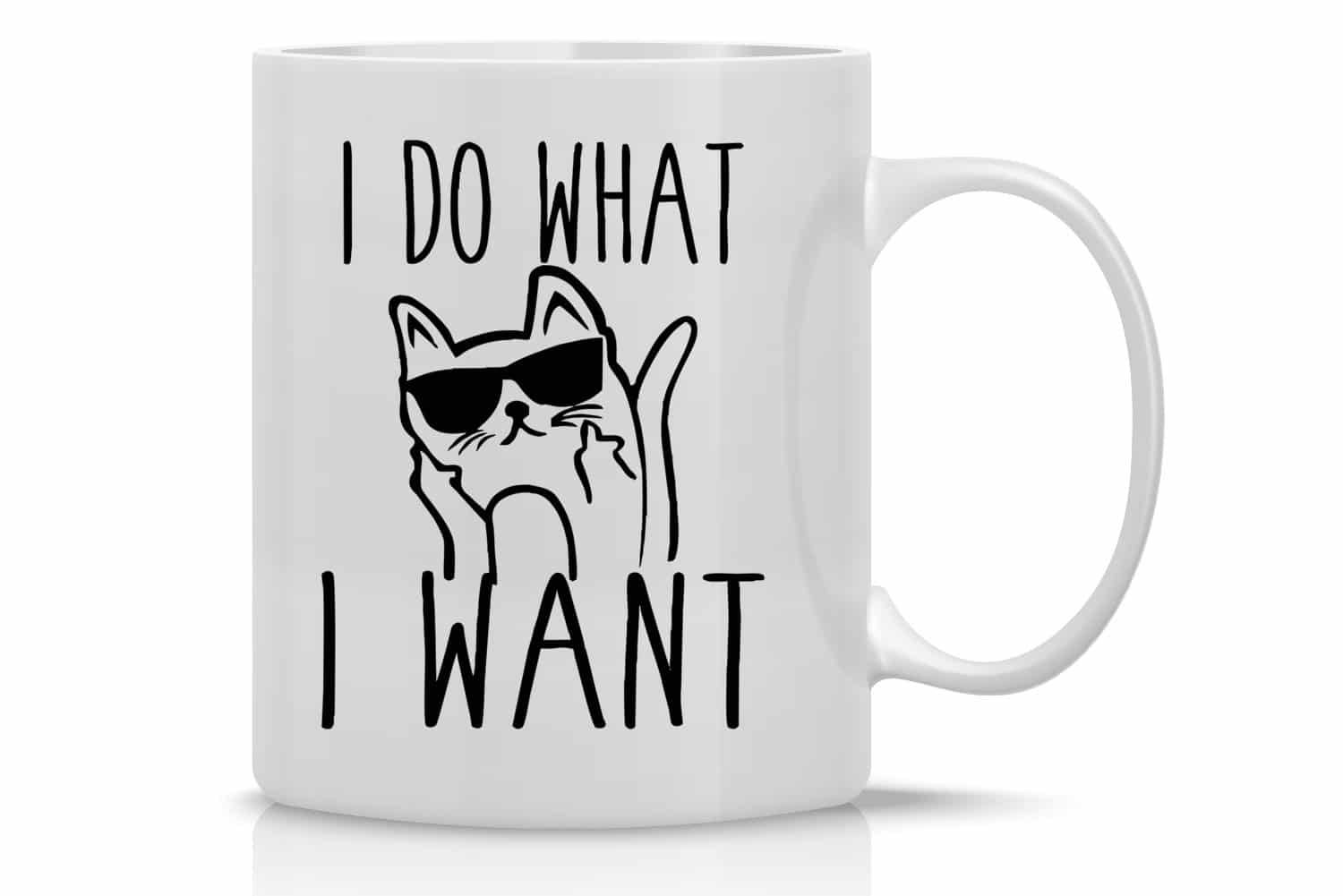 I Do What I Want Cat Funny Coffee Mug