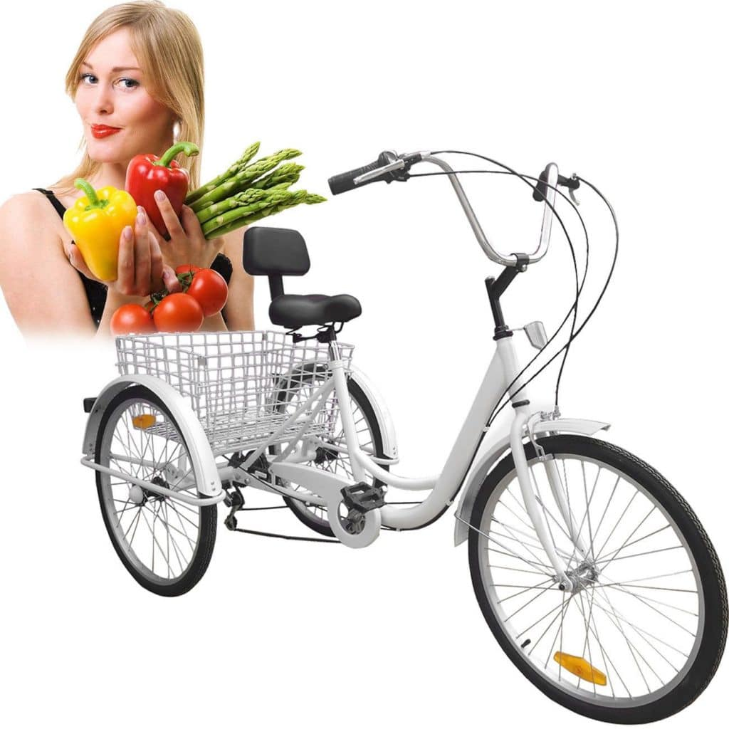 Iglobalbuy 24-Inch 6-Speed Adult Tricycle