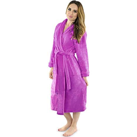 NY Threads Women's Fleece Bathrobe