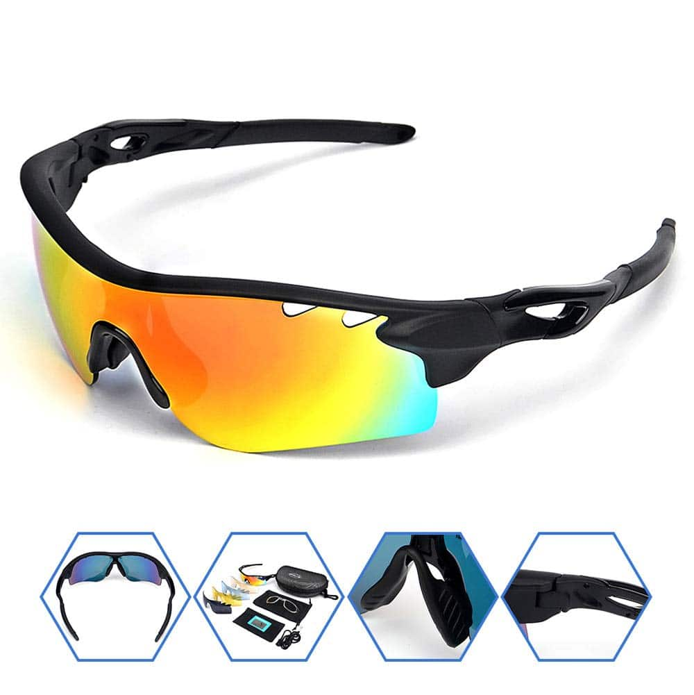 SPOSUNE Polarized Sports Sunglasses