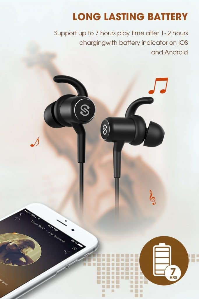 SoundPEATS Bluetooth Headphones Wireless 4.1 Magnetic Earbuds