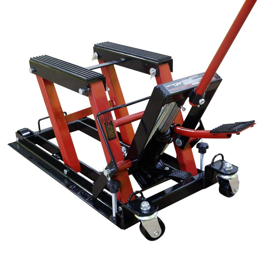 VIVOHOME Steel Hydraulic Motorcycle ATV Lift Jack Hoist Stand 1500 lbs