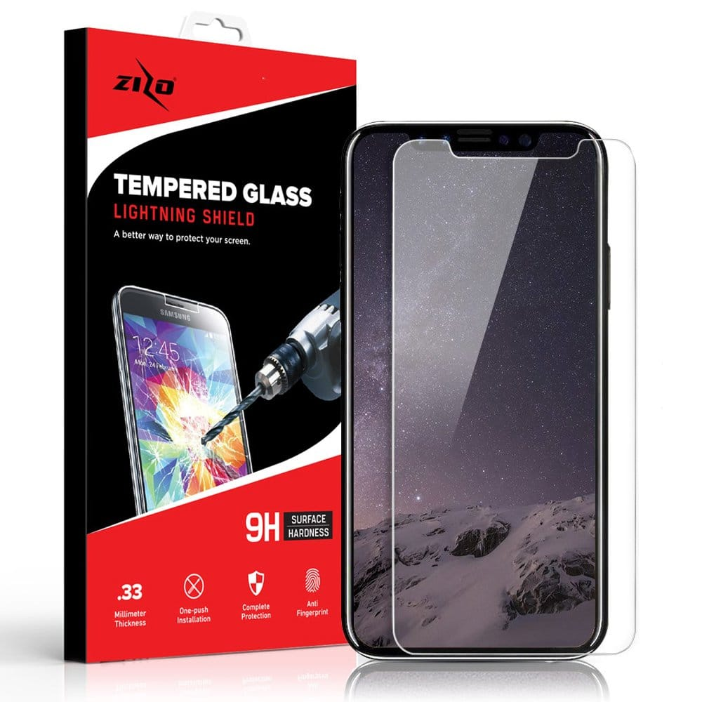 Zizo Glass Compatible with iPhone X Tempered Glass Screen Protector