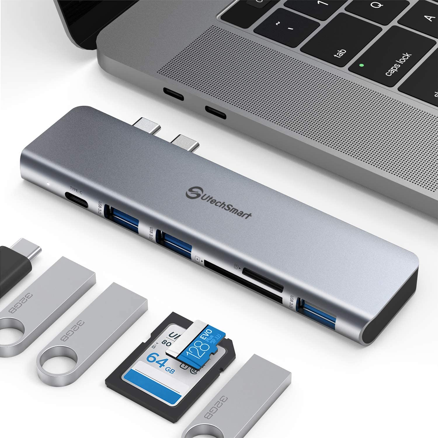 Aluminum Thunderbolt Type-C MacBook 3 USB