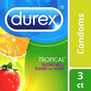 Condoms, Lubricated Latex, Durex Tropical Flavors Condom