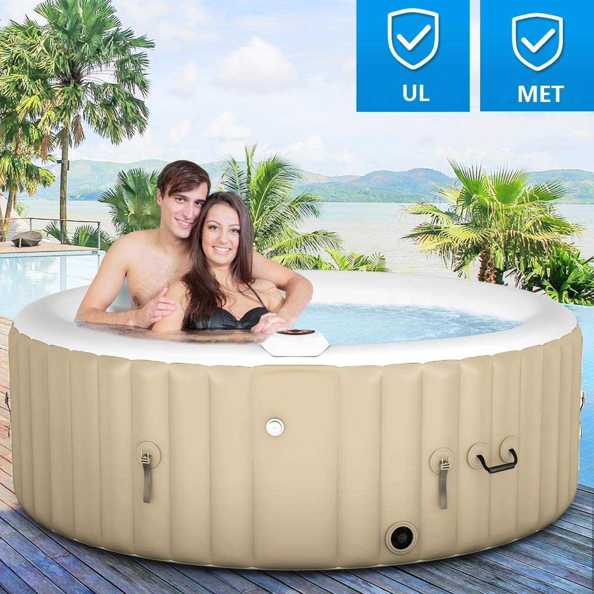 Goplus Inflatable Portable Relaxing Accessories-x