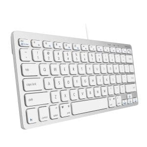 Macally USB Wired Compact Keyboard | Small & Slim Design