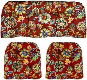 RSH Décor Outdoor Wicker Seat Cushions, 3 Piece Set
