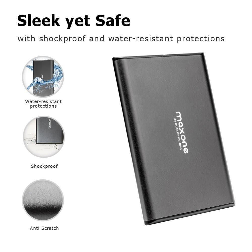 Maxone 500GB External Hard Drive for Laptop