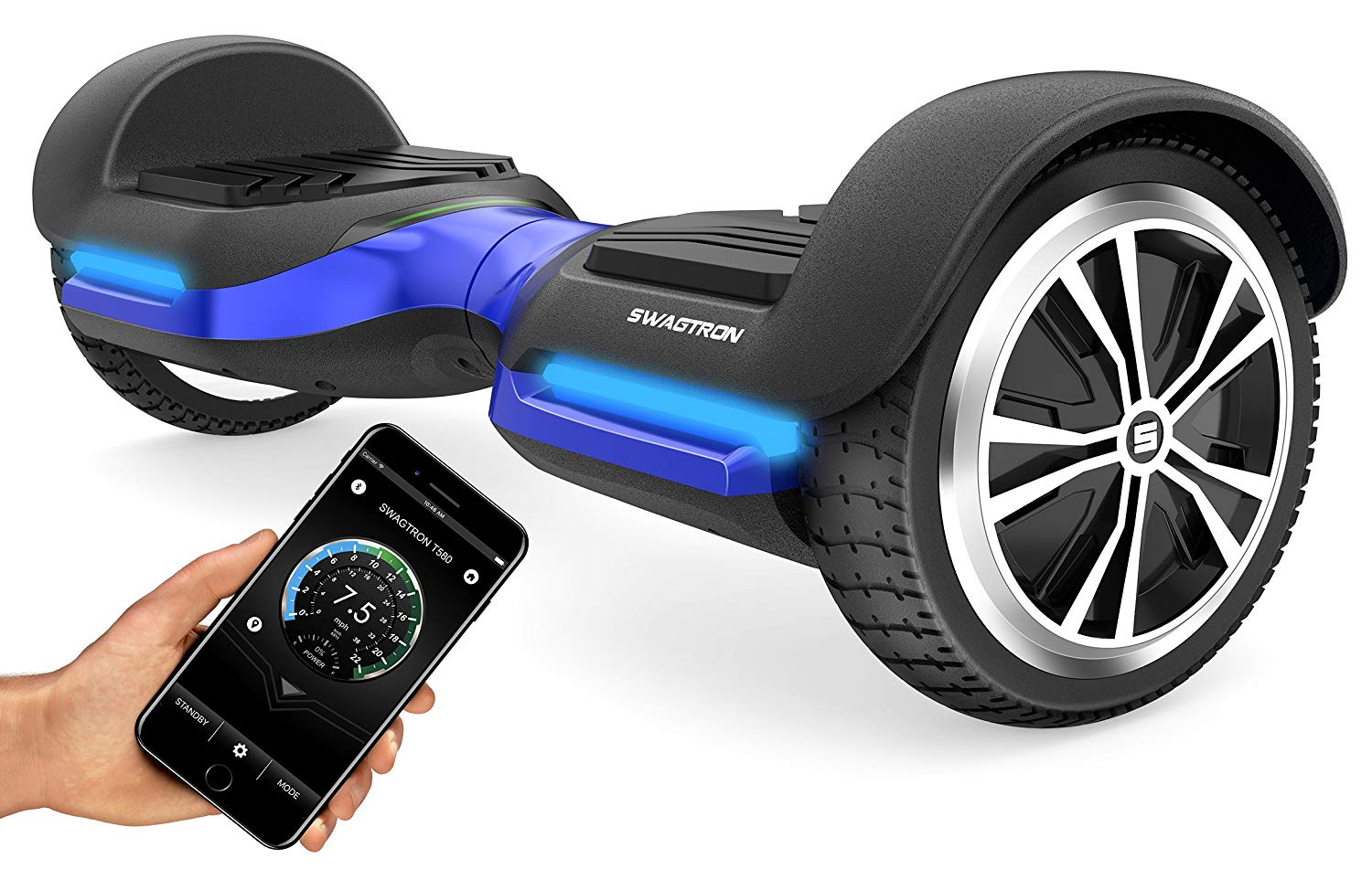Swagtron Swagboard Bluetooth Enabled Hoverboard