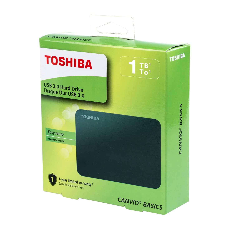 Toshiba Canvio Basics External Hard Drive, Black